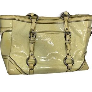 Coach Butter Yellow Tote Leather Silver Hardware